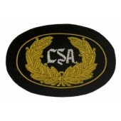 Style: 594 CSA Officers Embroidered Hat Badge with Gold Wreath