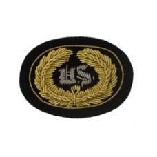 Style: 598S Small US Embroidered Hat Badge with Gold Wreath