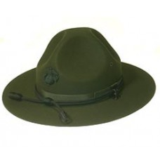 Style: 960 Marine Corps Black Hat Badge Campaign Hat