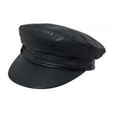 Style: 726 Leather Fiddler Cap