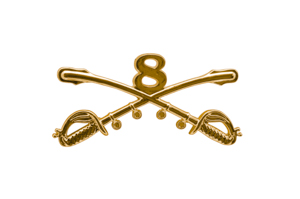 Style: 1046 8th Cavalry Sabers Hat Pin