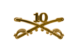 Style: 1048 10th Cavalry Sabers Hat Pin