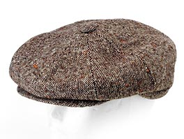 Style: 209 Tweed Wool 8 Panel Cap