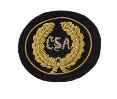 Style: 594S Small CSA Embroidered Hat Badge with Gold Wreath