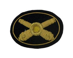 Style: 596S Small Artillery Cannon Embroidered Hat Badge