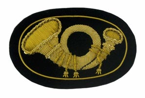 Style: 597 Infantry Officers Embroidered Hat Badge