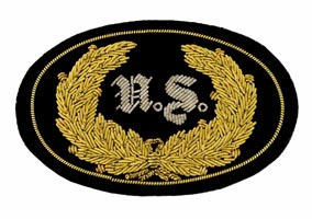 Style: 598 US Officers Embroidered Hat Badge with Gold Wreath