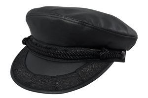 Style: 727 Leather Greek Fisherman Cap