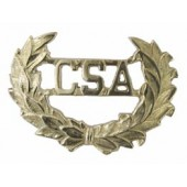 Style: 119 CSA Brass Insignias with Wreath