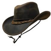 Style: 412 Leather Aussie Hat