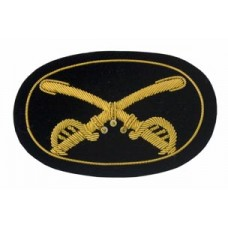 Style: 595 Crossed Saber Cavalry  Officers Embroidered Hat Badge