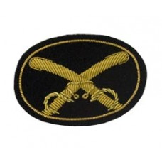 Style: 595S Small Crossed Saber Cavalry Embroidered Hat Badge
