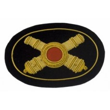 Style: 596 Artillery Officers Cannon Embroidered Hat Badge