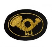 Style: 597S Small Infantry Embroidered Hat Badge with Gold Wreath