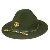 Style: 961 Marine Corps Gold Hat Badge Campaign Hat