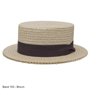 Style: 091 The Boater Straw Hat
