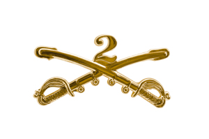 Cavalry Major Rank Officer Insignia Sabers Badge Hat Pin US Army Cav