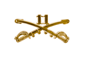 Style: 1049 11th Cavalry Sabers Hat Pin