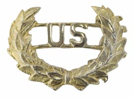 Style: 168 US Brass Insignias with Wreath