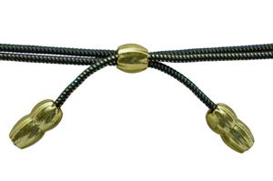 Style: 521 Black/Gold Acorn Band