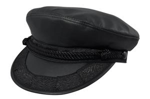 Style: 727 Leather Greek Fisherman Cap